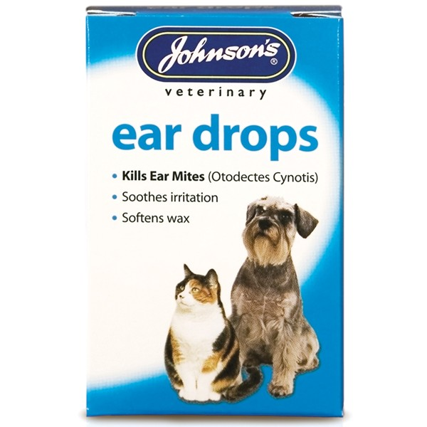 Johnsons Ear Drops For Dogs and Cats 15ml