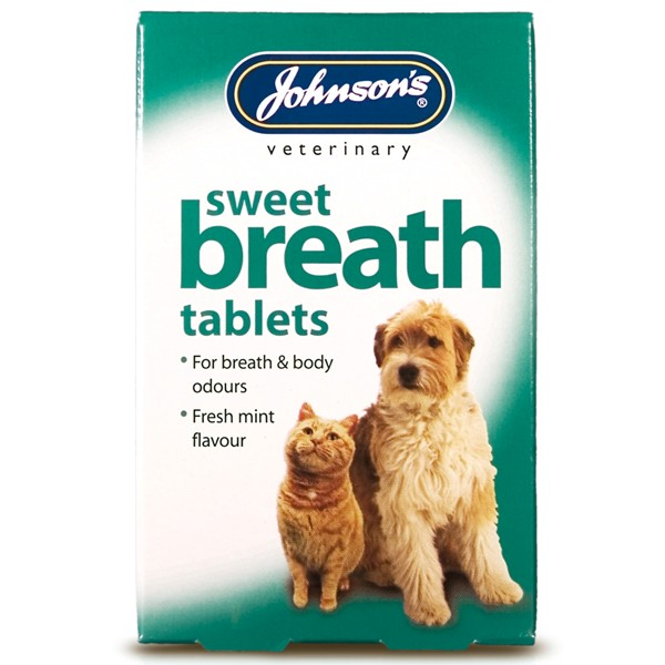 Johnsons Sweet Breath Tablets for Dogs and Cats (30 pack)