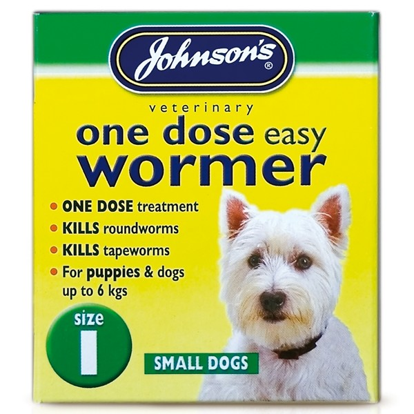 Johnsons Size 1 Dog One Dose Easy Worm Tablets (3 pack)