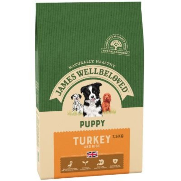 James Wellbeloved Puppy Turkey and Rice 7.5Kg