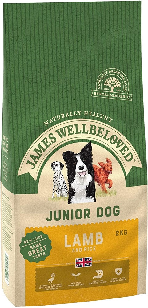 James Wellbeloved Dog Junior Lamb And Rice 2Kg