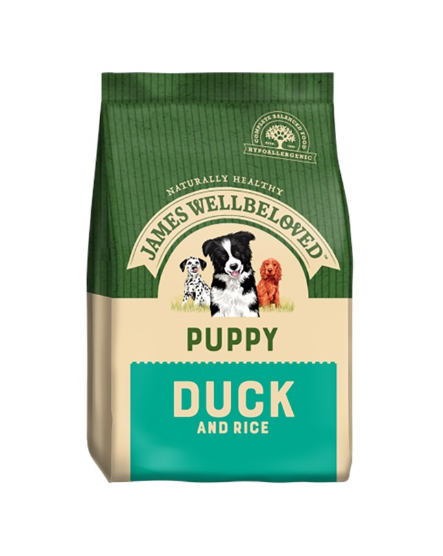 James Wellbeloved Dog Puppy Duck And Rice 2Kg