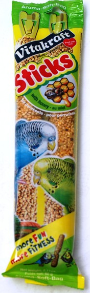 Vitakraft Budgie Honey Sticks (pack of 2)