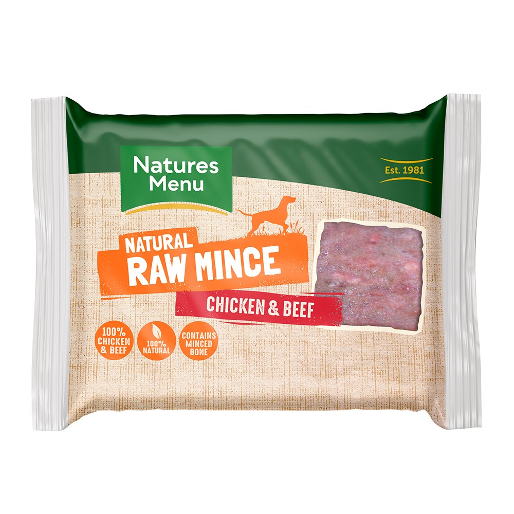 Natures Menu Minced Beef and Chicken Block 400g