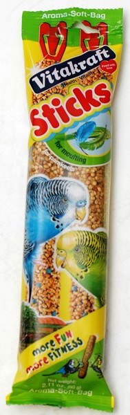Vitakraft Budgie Moulting Sticks 60g (2 pack)