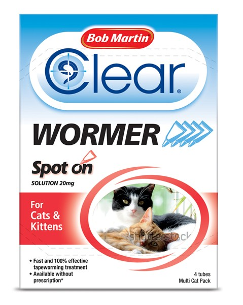 Bob Martin Spot On Dewormer Cats And Kittens (4 pack)