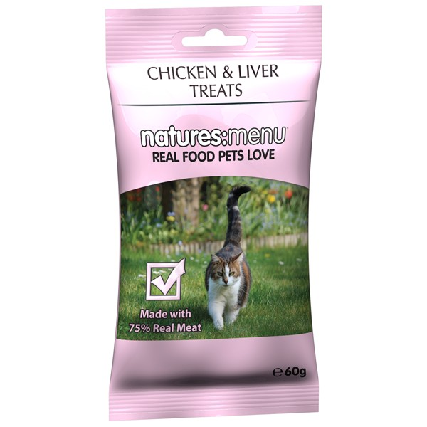 Natures Menu Cat Chicken And Liver Treats 60g