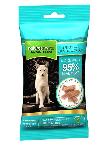 Natures Menu Cat Salm And Trout Treats 60g