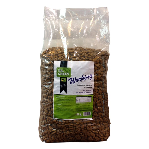 Dr Green Working Dog Food 15kg