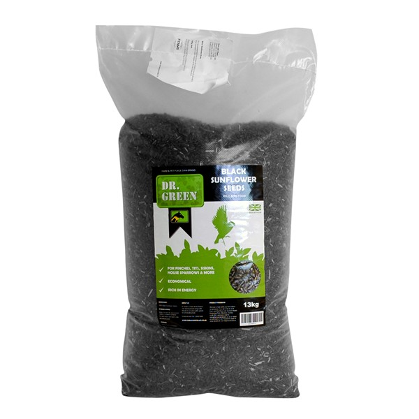 Dr Green Black Sunflower Seeds 13Kg