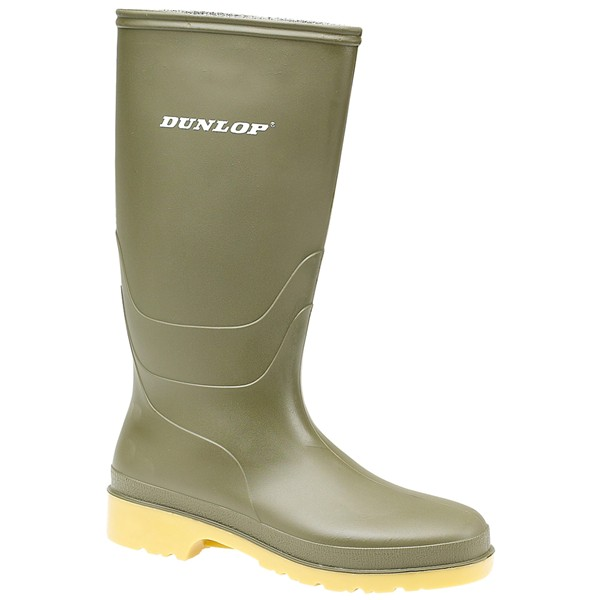 Dunlop Dulls Childs Green Wellingtons Size 10