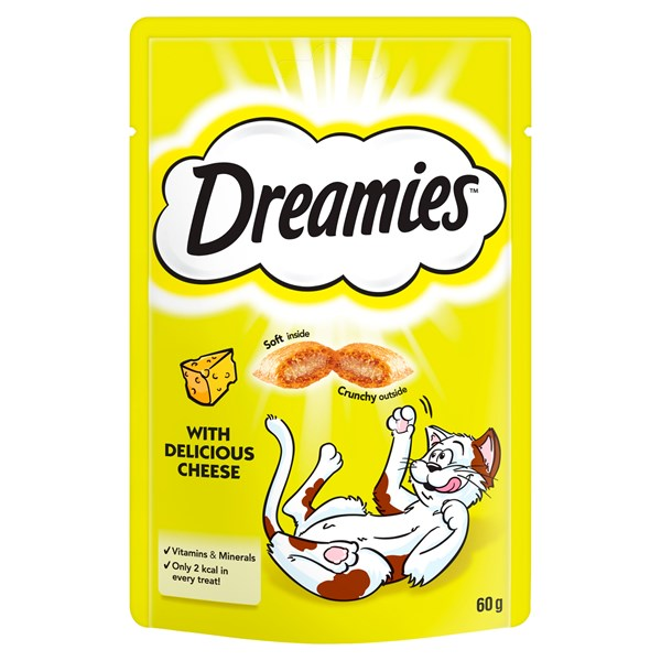 Dreamies Cat Treat Delicious Cheese 60g