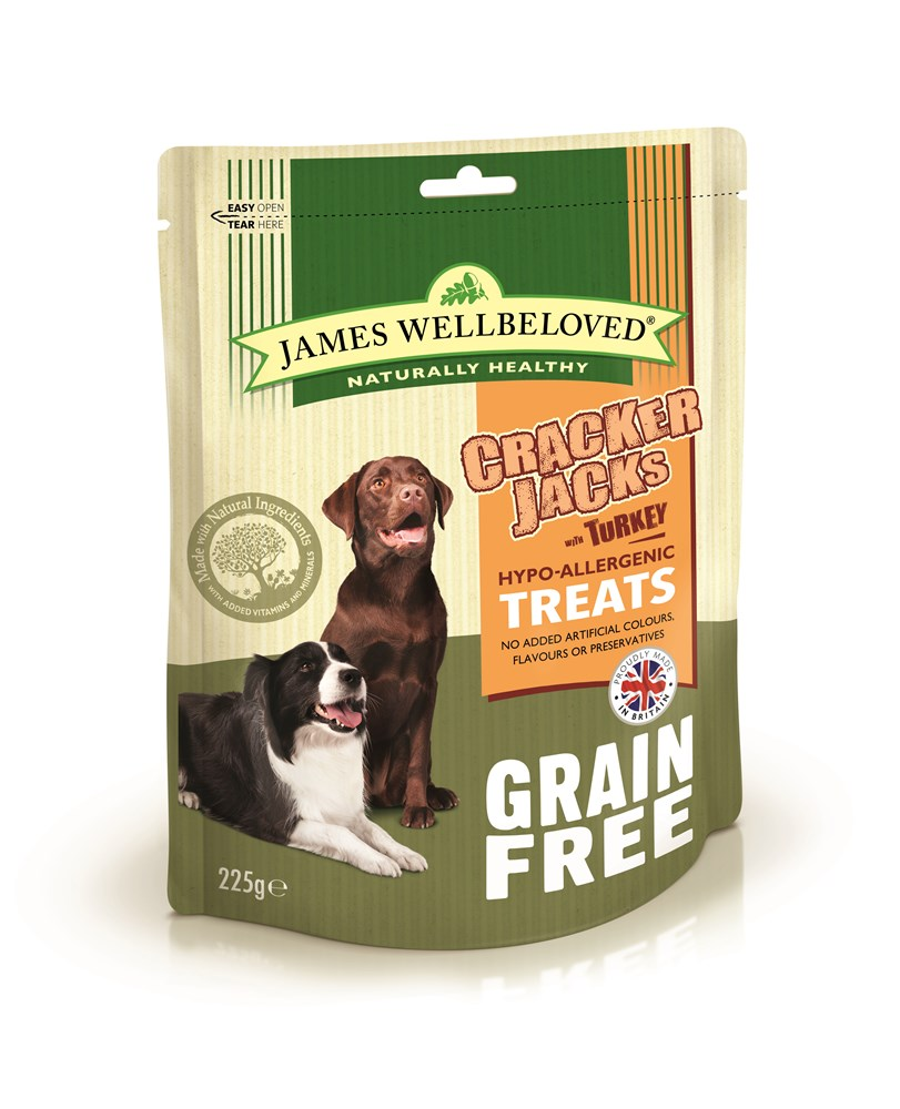 James Wellbeloved Crackerjacks Grain Free Turkey 225g