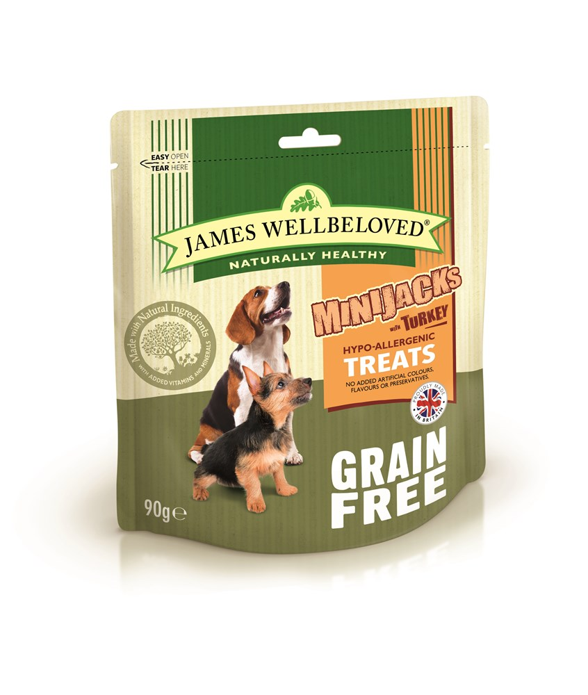 James Wellbeloved Minijacks Grain Free Turkey 90g