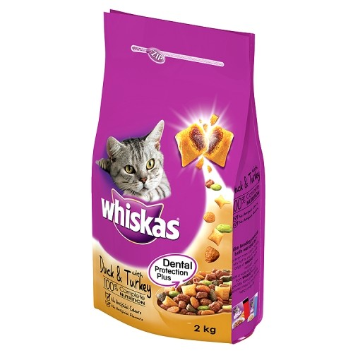Whiskas Complete Adult Cat Food Duck And Turkey 2Kg