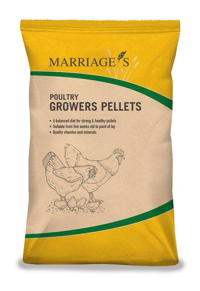 Marriages Poultry Growers Pellets 20Kg