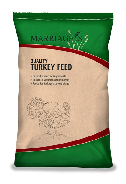 Marriage's Turkey Grower Pellets 25Kg