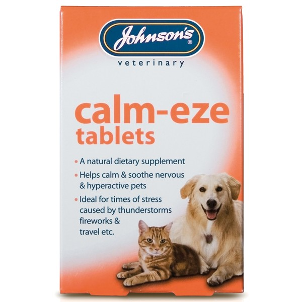 Johnsons Calm Eze Calming Tablets For Dogs And Cats (36 Tablets)
