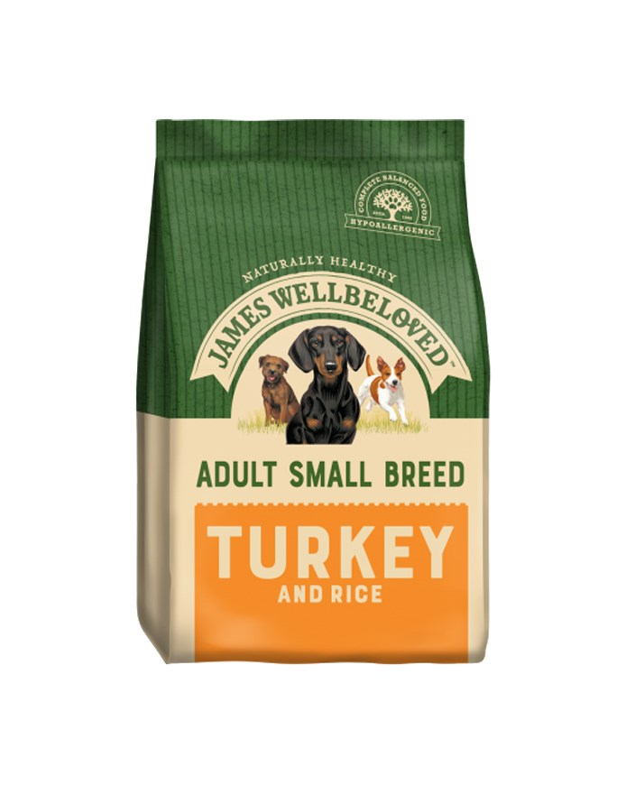 James Wellbeloved Dog Small Adult Turkey and Rice 1.5kg