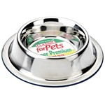 Non Slip or Tip Stainless Steel Dog Bowl 500ml