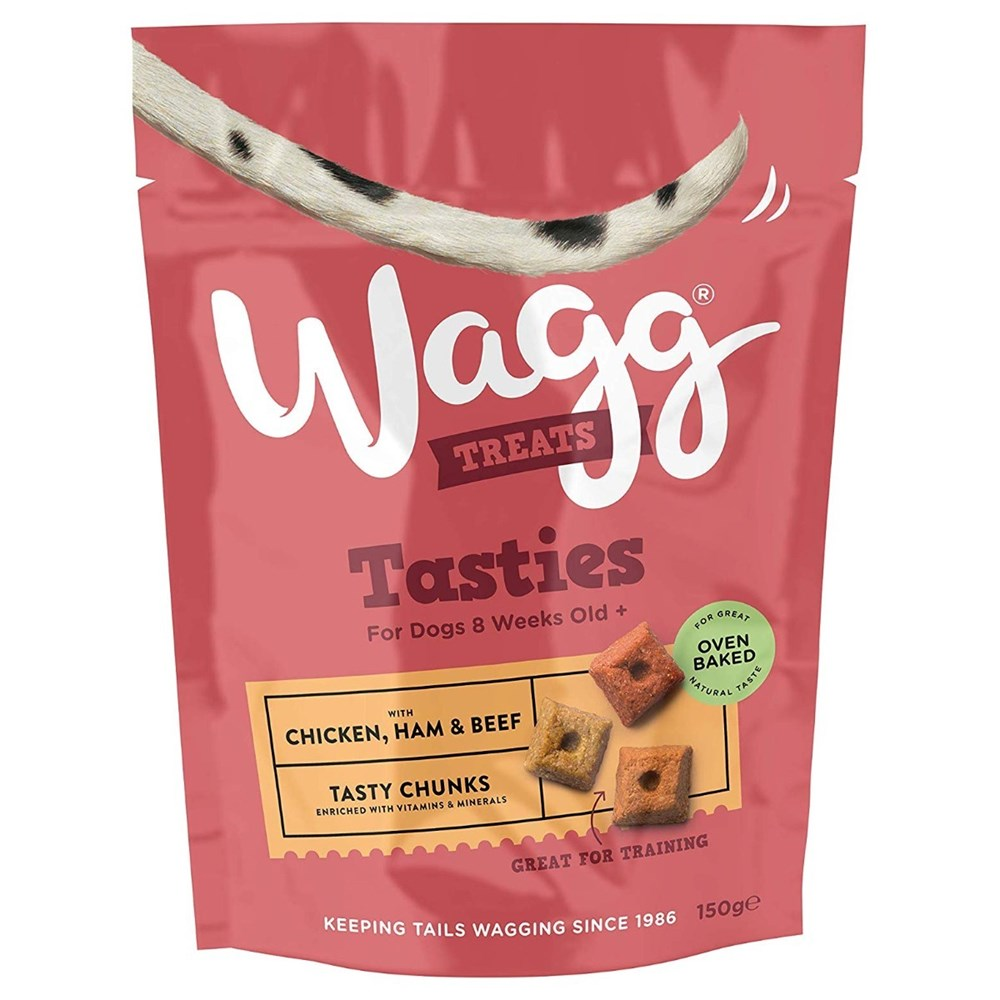 Wagg Tasty Chunks with Chicken Ham and Beef 150g
