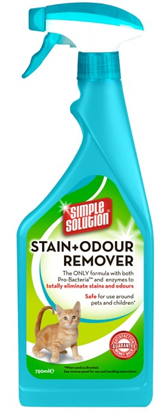 STAIN AND ODOUR REMOVER FOR CATS 750ML