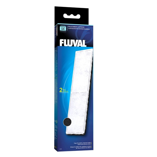 Fluval U4 Poly/Carbon Cartridge 2 Pack