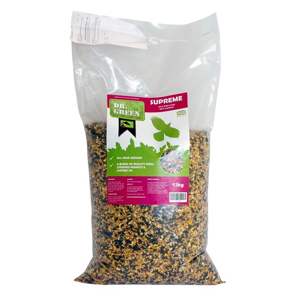 Dr Green Supreme Wild Bird Food With Aniseed 13kg