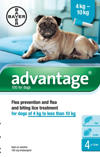 Advantage 100 Spot-on For Dogs - 4 Pipetts