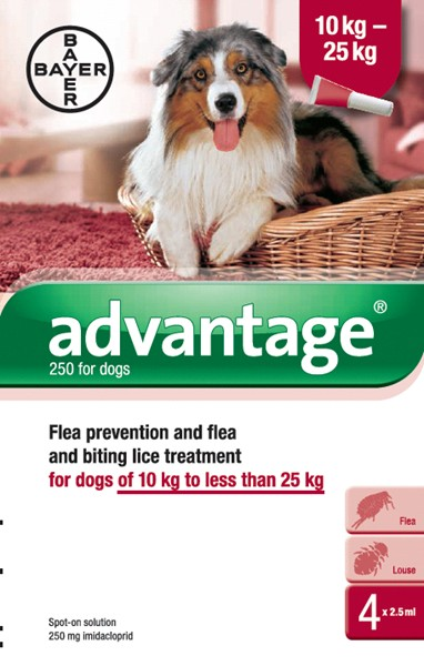 Advantage 250 Spot-On for Dogs (4 pipetts)