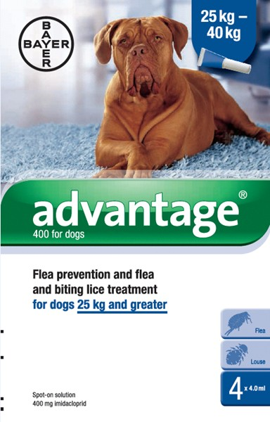 Advantage 400 Spot-On for Dogs (4 pippets)