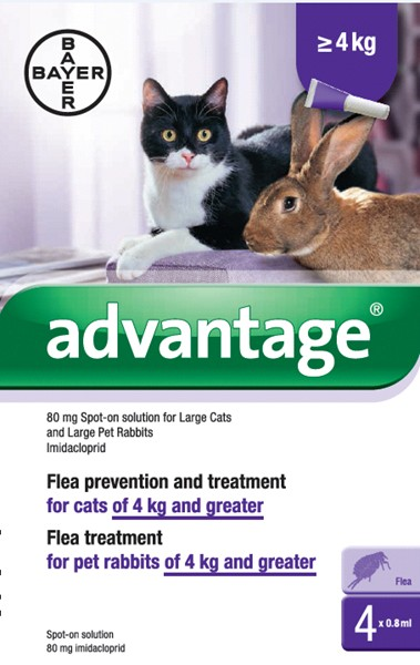 ADVANTAGE 80 SPOT-ON FOR Lrg Cats/Rabits