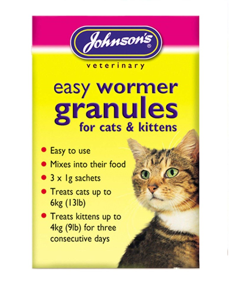 Johnsons Kitten Worming Granules 3 x 1g