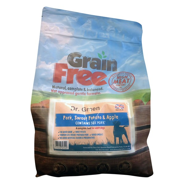 Dr Green Grain Free Pork Dog Food 2kg
