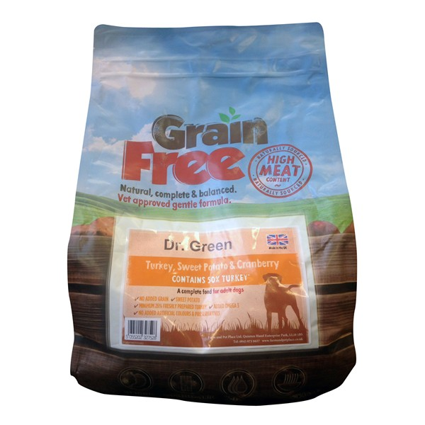 Dr Green Grain Free Turkey Dog Food 2kg