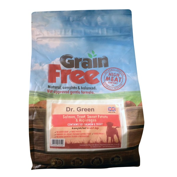 Dr Green Grain Free Salmon Dog Food 2kg