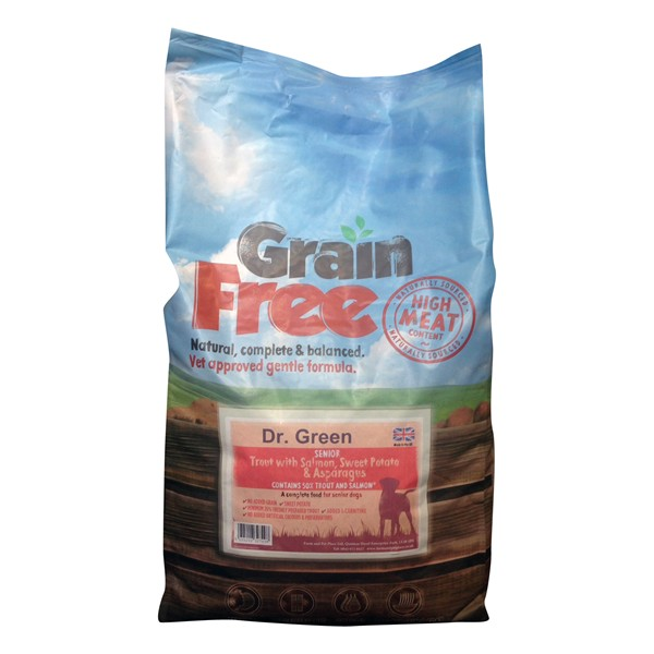 Dr Green Grain Free Senior Trout Dog Food 2kg