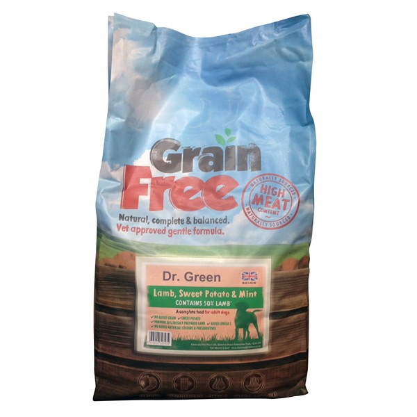 Dr Green Grain Free Lamb Dog Food 2kg