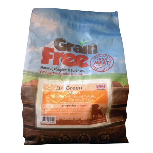 Dr Green Grain Free Puppy Chicken Dog Food 2kg