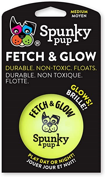 SPUNKY PUP FETCH & GLOW BALL ME ASSORTED