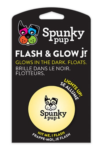 Spunky pup Flash And Glow Ball Jr (assorted colours)