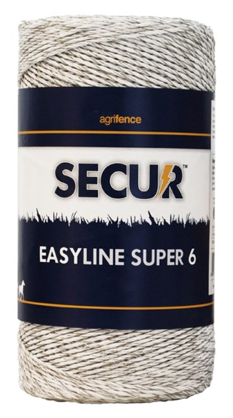 Easyline Super 6 White Polywire x 200m