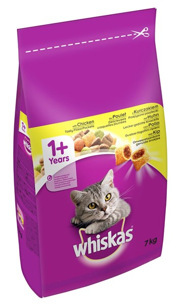 Whiskas 1+ Years Complete Dry Chicken 7kg