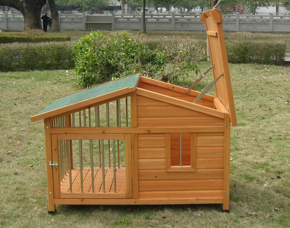 Wooden Dog House Small col.Natural