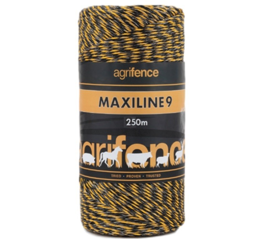 Maxiline 9 Polywire Orange/Black