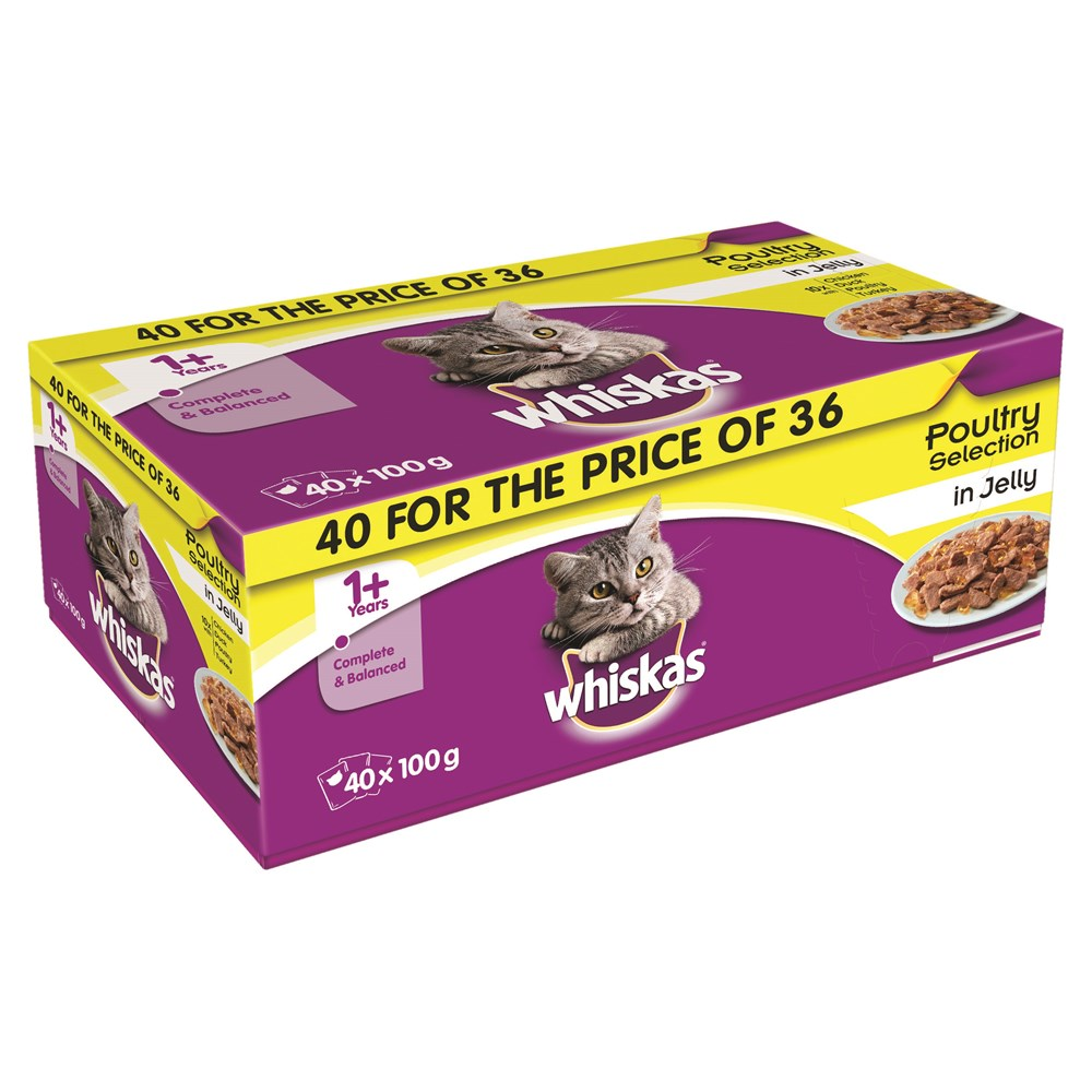 Whiskas +1 Poultry Selection 40x 100g