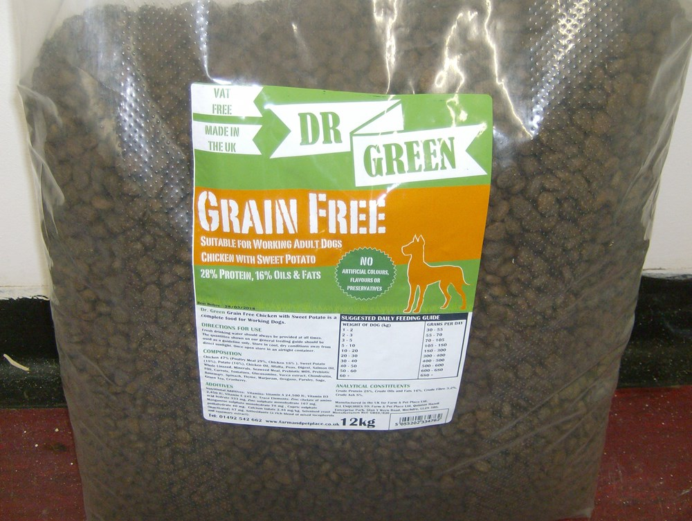 Dr Green Grain Free Chicken and Sweet Potato 12kg