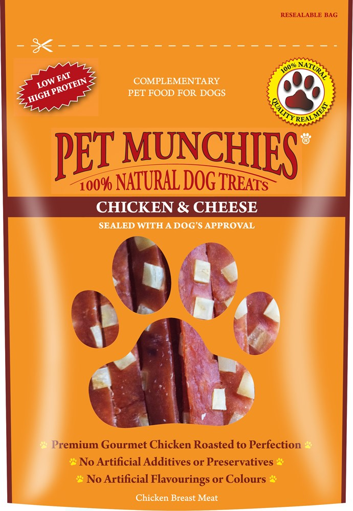 Pet Munchies Chicken and Cheese 100g