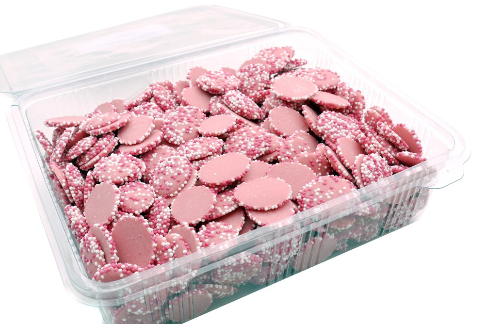 MINI DISC STRAWBERRY DOG TREAT 1KG