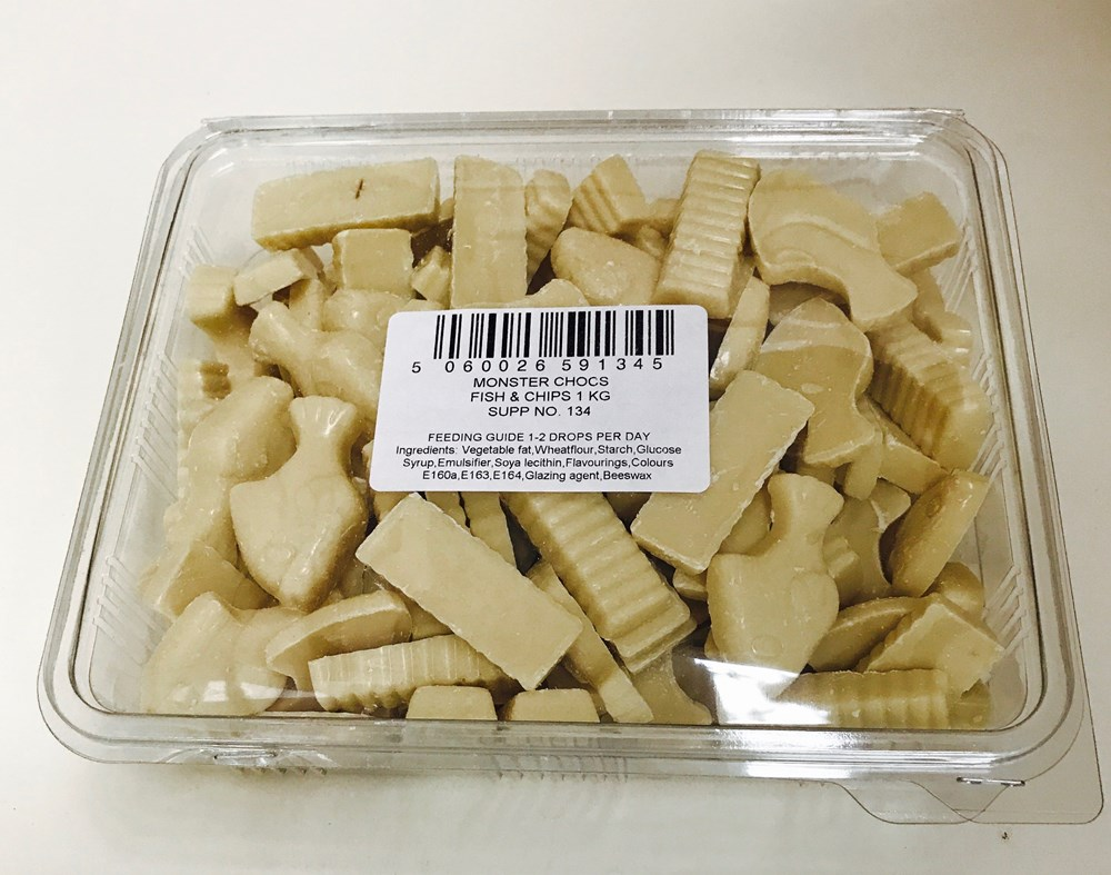 White Chocolate Fish and Chips 1kg